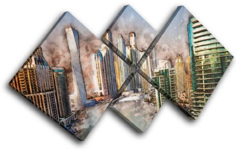 Dubai Abstract City - 13-6028(00B)-MP19-LO